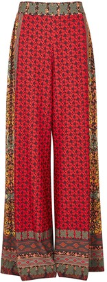 Alice + Olivia Athena Printed Wide-leg Trousers