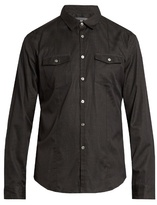 John Varvatos Pinstriped Cotton Shirt
