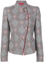 Giorgio Armani fitted military style jacket - women - Silk/Virgin Wool - 42