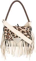 Sara Battaglia Amber fringed bag - women - Calf Leather/Acrylic/Polyester/Pony Fur - One Size