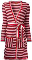 Missoni zig-zag belted cardi-coat - women - Cotton/Nylon/Viscose/Wool - 44