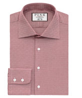 Thomas Pink Torquil Texture Slim Fit Button Cuff Shirt
