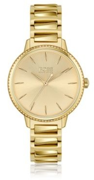 HUGO BOSS Signature Collection watch with crystal-set bezel