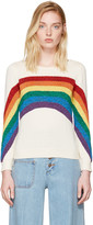 Marc Jacobs Ivory Rainbow Sweater