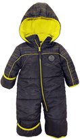 iXtreme Baby Boys Plaid Expedition One Piece Puffer Winter Snowsuit Bunting Pram