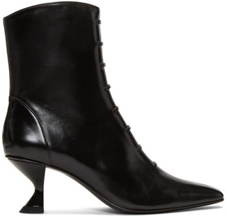 Dorateymur Black Cigarette Closed Kitten Heels