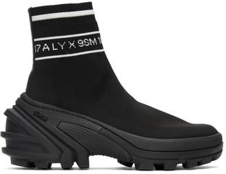 Alyx Black Knit Logo High-Top Sneakers