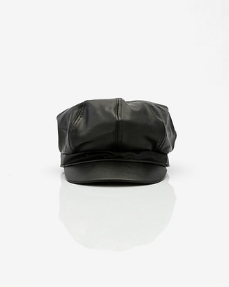 Le Château Faux Leather Poor Boy Cap