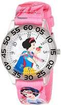 Disney Girl's 'Snow White' Quartz Plastic and Nylon Casual Watch