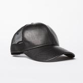 DSTLD Wool Trucker Hat in Black