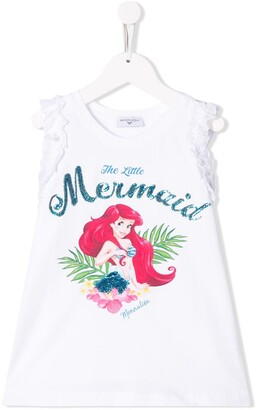 MonnaLisa Little Mermaid print T-shirt