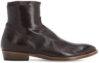 Silvano Sassetti 35MM LEATHER ZIP-UP BOOTS
