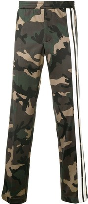 Valentino Camouflage track pants with Contrasting Side Bands