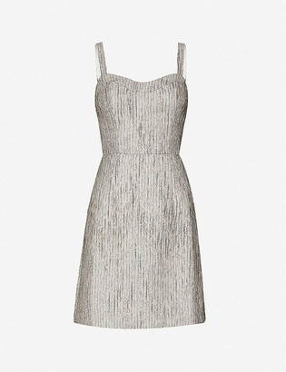 Ted Baker Metallic-crepe mini dress