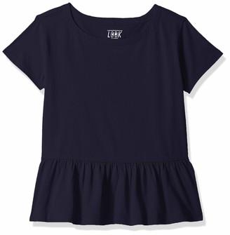 Look by crewcuts Amazon/J. Crew Brand Girls' Short Sleeve Peplum tee