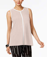 Alfani Contrast-Trim Top, Created for Macy's