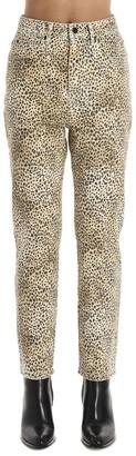 Alexander Wang X Denim Cheetah Printed Jeans