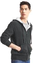 Gap Waffle-lined zip hoodie