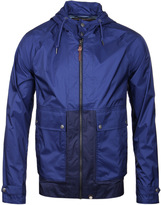 Pretty Green Brompton Royal Blue & Navy Hooded Light Weight Jacket