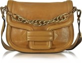 Pierre Hardy Alphaville Camel Grained Leather Shoulder Bag