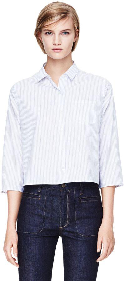 Theory Lerlynn Shirt in Santo