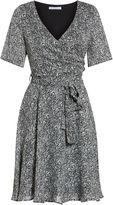 Gina Bacconi Itsy metallic chiffon dress