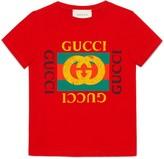 Gucci Children's cotton T-shirt with vintage logo