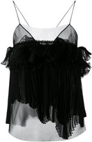Rochas pleated cami - women - Silk/Polyamide - 44