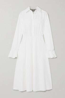 Valentino Cotton-blend Poplin Midi Dress - White