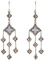 David Yurman Chalcedony & Diamond Quatrefoil Chandelier Earrings