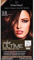 Schwarzkopf Ultime Hair Color Cream, 3.8 Velvet Brown, 2.03 Ounce