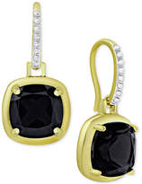 Macy's Sapphire Cushion Drop Earrings (3-1/2 ct. t.w.) in 18k Gold-Plated Sterling Silver