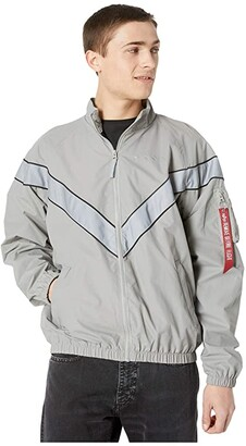 Alpha Industries PT Track Jacket (New Silver) Clothing