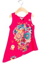 Junior Gaultier Girls' Floral Print High-Low Top w/ Tags