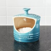 Crate & Barrel Le Creuset ® Caribbean Blue Salt Crock