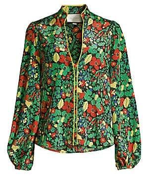 Alexis Women's Minu Linen & Cotton Floral Blouse
