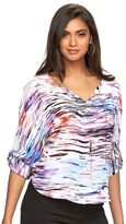 JLO by Jennifer Lopez Women's Dolman Chiffon Necklace Top