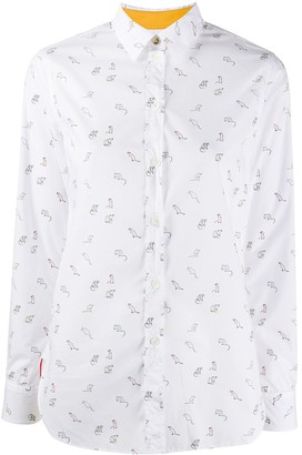 Paul Smith Year Of The Rat-print cotton shirt