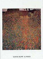 Gustav 1art1 Posters Klimt Poster Art Print - Campo Di Papaveri (28 x 20 inches)