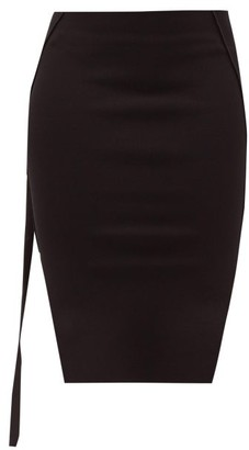 Rick Owens Easy Side-slit Jersey Mini Skirt - Black