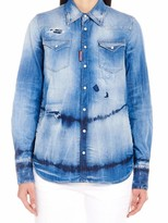 DSQUARED2 Western Tie-Dye Denim Shirt