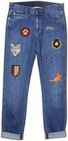 Stella McCartney Blue Denim Embroidered Boyfriend Jeans
