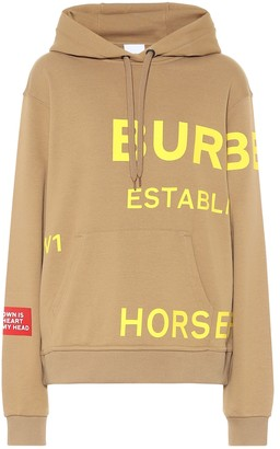 Horseferry logo cotton jersey hoodie