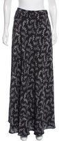 Band Of Outsiders Printed Silk Maxi Skirt