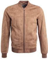 Celio Judaim Faux Leather Jacket Camel