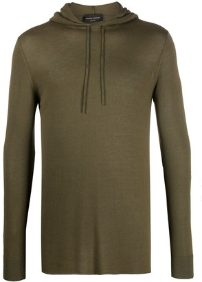 Roberto Collina Lightweight Knitted Hoodie