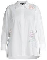 Thumbnail for your product : Lafayette 148 New York, Plus Size Crisp Cotton Poplin Greyson Blouse