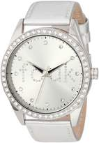 French Connection Women's FC1012S Over-Sized Round Glossy Watch