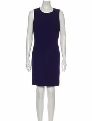 Celine Crew Neck Mini Dress Purple