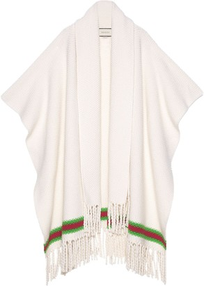 Gucci Cape with oversize wool scarf